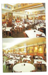 Haussner's Restaurant Baltimore MD Interior Vintage Postcard