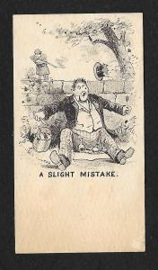 VICTORIAN TRADE CARD Man Shot in Hat