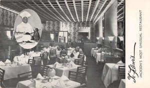 Jackson Mississippi Le Fleur's Restaurant Black Chef Vintage Postcard AA16693