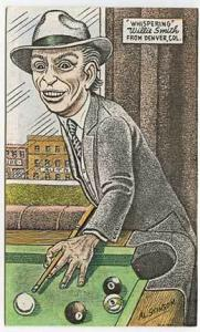 Whispering Willie Smith Pool Billiards Game Postcard