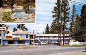 PARK AVE MOTEL Stateline, Lake Tahoe, California Roadside Postcard ca 1960s