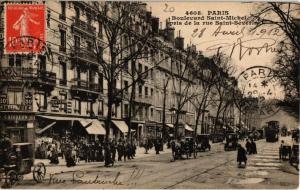 CPA PARIS (6e) Boulevard St-Michel. pris de la rue Saint-Severin (535179)