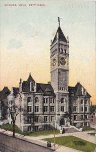 Massachusetts Lowell City Hall 1907