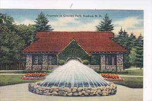 New Hampshire Nashua Fountain In Greeley Park