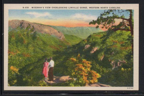 North Carolina colour PC Wiseman's View Linville Gorge unused