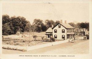 Dearborn MI Jordan Boarding House in Greenfield Village Real Photo Postcard