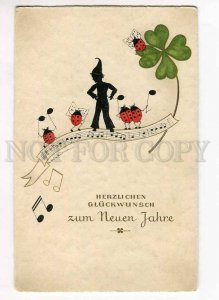 262565 NEW YEAR Ladybird GNOME by HEUSMANN Vintage SILHOUETTE
