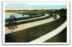 Postcard Baxter Boulevard, Portland ME Maine G33