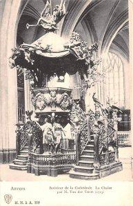 Interieur de la Cathedrale Anvers Belgium Unused