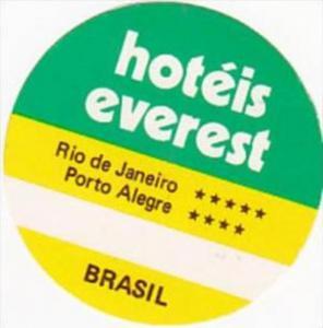BRASIL RIO DE JANEIRO HOTEL EVEREST VINTAGE LUGGAGE LABEL