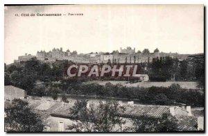 Postcard Old Cite Carcassonne Panorama