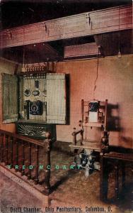 1910 Columbus Ohio Postcard: Interior of Penitentiary Death Chamber