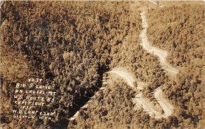 F76/ Grafton West Virginia RPPC Postcard Laurel Mountain Road 1935