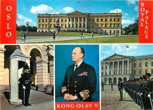 Oslo Royal Palace King Olav V Norway Royalty Postcard