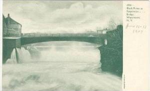 Black River at Suspension Bridge, Watertown, New York, 1900-1910s