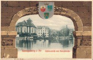 Germany Königsberg Schlossteich mit Burgkirche 03.87