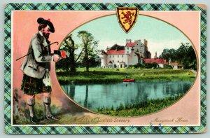 Inverurie Scotland UK~Snap Shots Monymusk House~Scotsman With Box Camera~1910