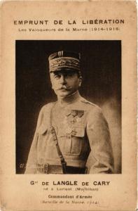 CPA General DE LANGLE DE CARY. Militaire (287229)
