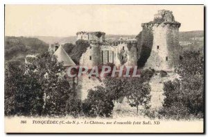 Postcard Old Tonquedec (N C) The Chateau Overview (South Coast)