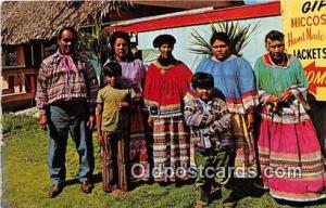 Seminole Indians Postcard John Tiger Pool's Indian Village, Miami, FL, USA Co...