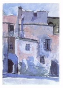 Postcard Art Old Buildings Spain (1950) by Anne Redpath MU2734 #2766