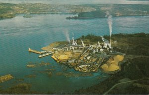 VANCOUVER ISLAND , British Columbia ,1950-60s ; Elk Falls pulp & paper Mill