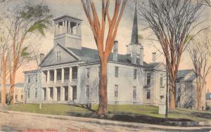Augusta Maine Court House Street View Antique Postcard K39809