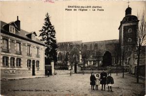 CPA CHATEAU-du-LOIR Place de l'Église - La Poste (390931)