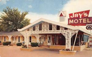 Vandalia Illinois Jays Motel Exterior Entrance Vintage Postcard K24244