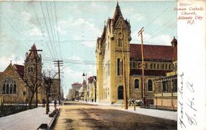 Atlantic City New Jersey~Roman Catholic Church Down Street~Horse & Buggy~1906 PC