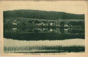 CPA Env. De PONTARLIER - Un efet de mirage au Lac St-Point (131262)