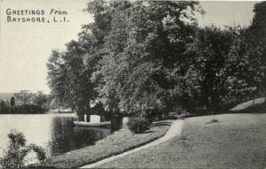 Bayshore, Long Island, Park Scene (1930s)