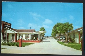 Florida DAYTONA BEACH Rivershore Cottages 3150 S Atlantic Ave. - pm1967 - Chrome