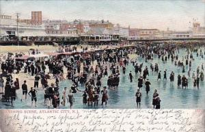 Bathing Scene Atlantic City New Jersey 1908
