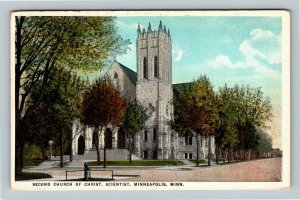 Minneapolis MN, Second Church Of Christ Scientist, Vintage Minnesota Postcard