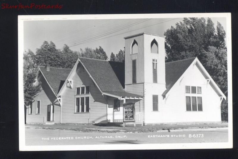 RPPC ALTURAS CALIFORNIA THE FEDERATED CHURCH VINTAGE REAL PHOTO POSTCARD