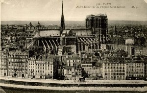 France - Paris. Notre Dame from St Gervais Church