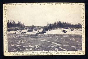 Early Lewiston, Maine/ME Postcard, The Falls, 1903!