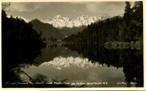 New Zealand - Westland. Fox Glacier, Lake Matherson.  *RPPC