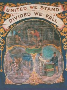 United We Stand Cheshire Minors Minor Northwich Museum Banner Industry Postcard