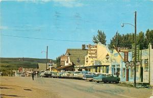 East Glacier Park MT~Palomino Bar~Hardware~Cafe-Fountain~Standard Oil~1950s Cars