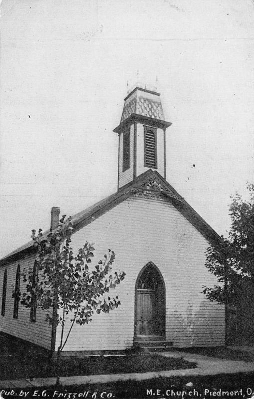 Piedmont Ohio~Methodist Episcopal Church~Postcard 1910