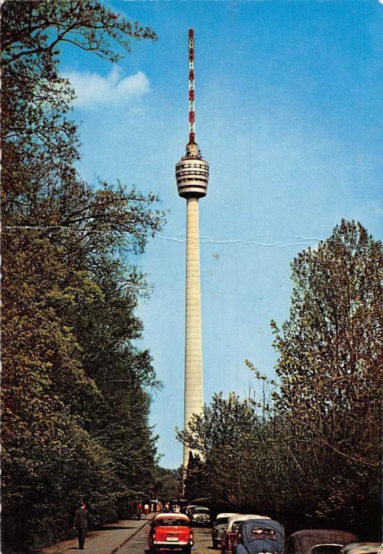 Stuttgart Fernsehturm Tower Auto Vintage Cars