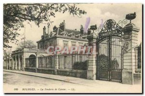 Old Postcard Bourges The Foundry Canons