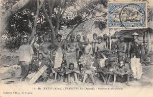 Gabon De Lekety (Alima) a Franceville (Ogooue) Porteurs Mindoumbous 1908