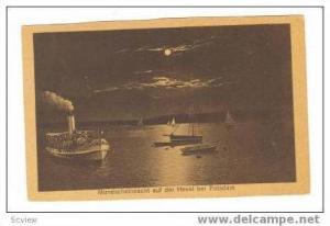 Mondscheinnacht auf der Havel bei Potsdam, Germany, 00-10s