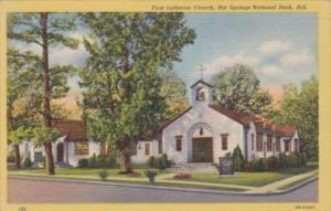Arkansas Hot Springs First Lutheran Church 1951 Curteich