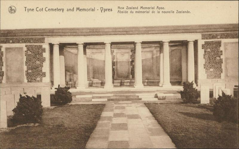 Ypres Tyne Cot Cemetery Memorial War Stone New Zealand memorial Apse