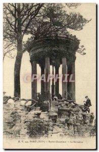 Old Postcard Paris Buttes Chaumont The Belvedere