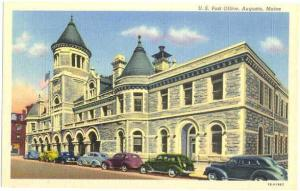 Post Office, Augusta ,Maine, ME, Linen